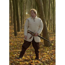 Long gambeson with detachable sleeves