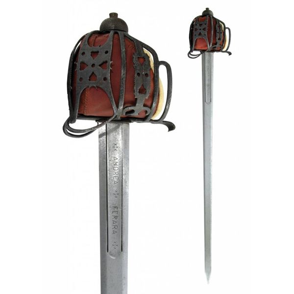 CAS Hanwei Basket hilted broadsword antik