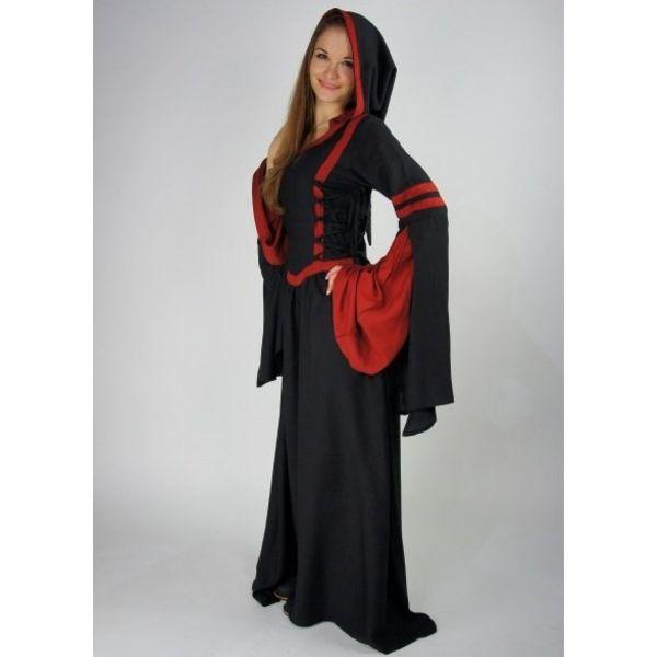 Robe Douze noir-rouge