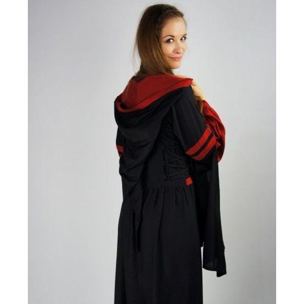 Sukienka Douze czarno-czerwony