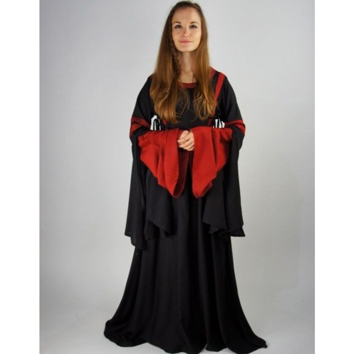Leonardo Carbone Vestido Douze negro-rojo