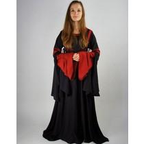 Kjole Douze sort-rød