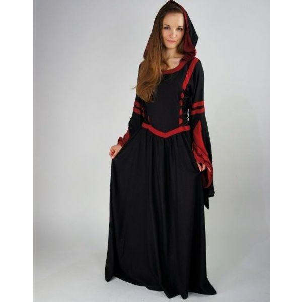 Dress Douze black-red