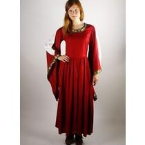 Leonardo Carbone Noble broderet kjole Loretta, rød