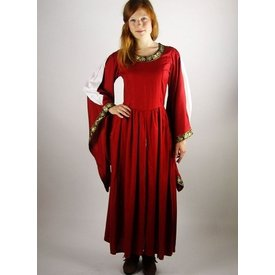 Noble embroidered dress Loretta, red