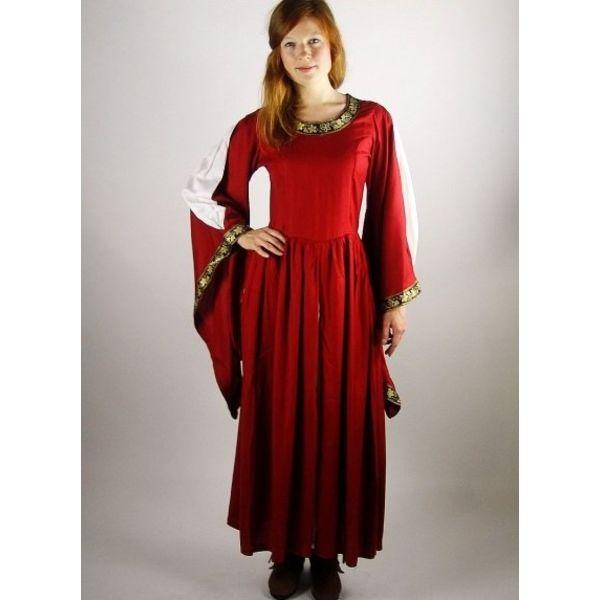 Vestido bordado Noble Loretta, vermelho