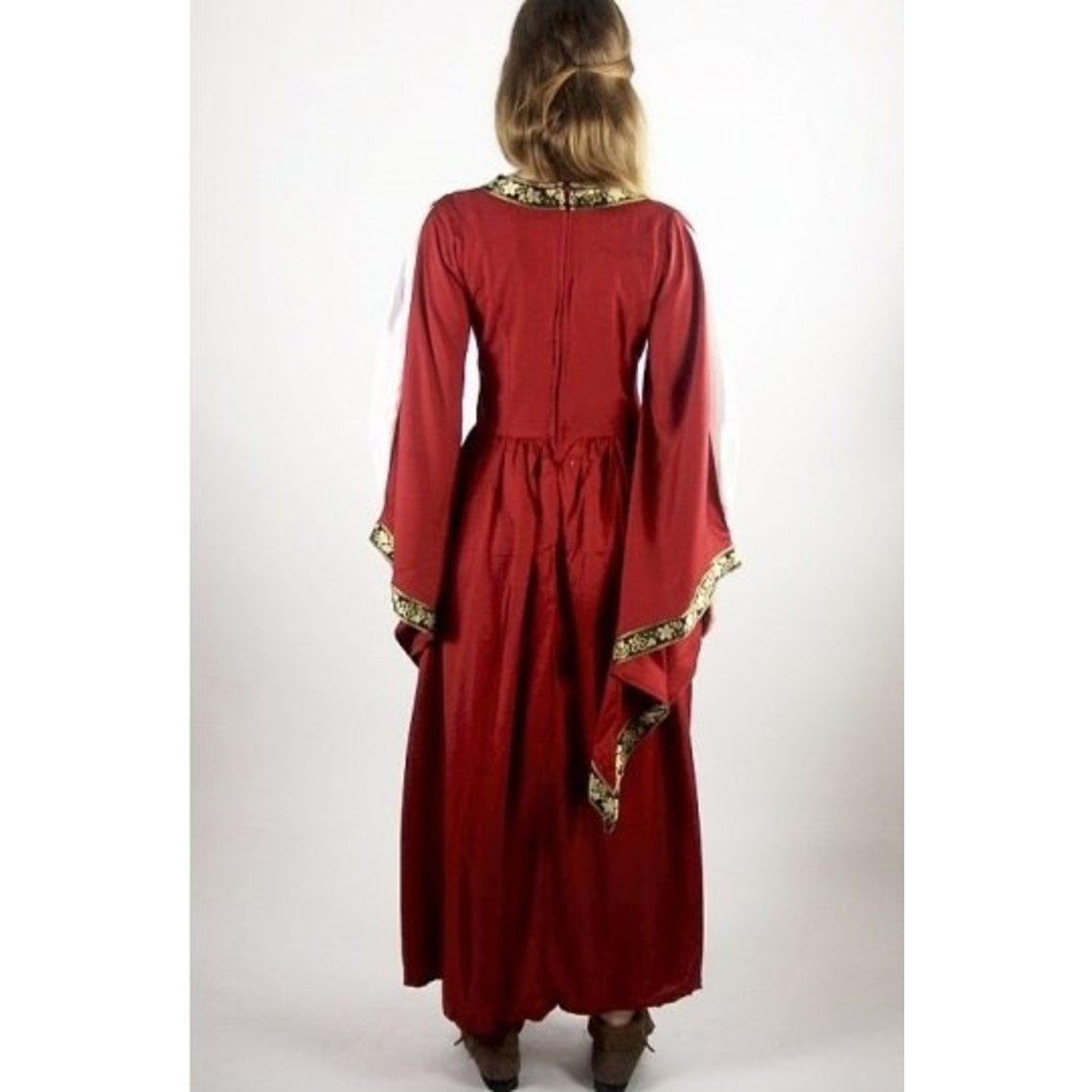 Leonardo Carbone vestido bordado noble Loretta, rojo