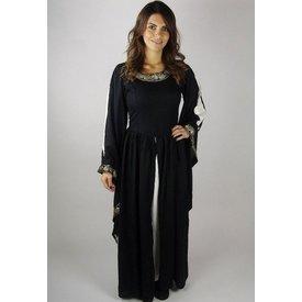Noble abito ricamato Loretta, nero
