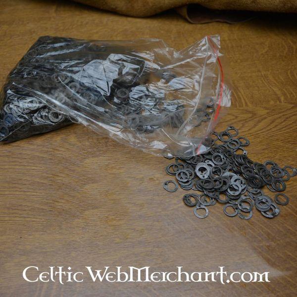 Ulfberth 1 kg platte maliënringen met ronde klinknagels, onbehandeld, 8 mm
