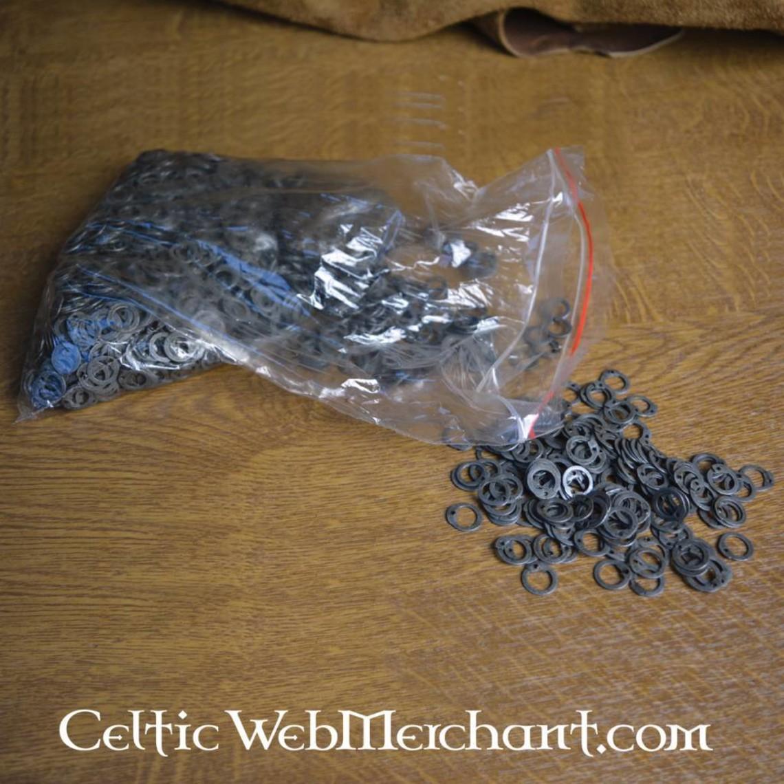 Ulfberth 1 kg di anelli piatti con rivetti rotondi, 8 mm