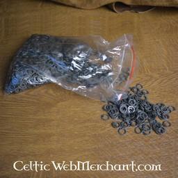 1 kg Flade ringe med Runde nitter, 8 mm