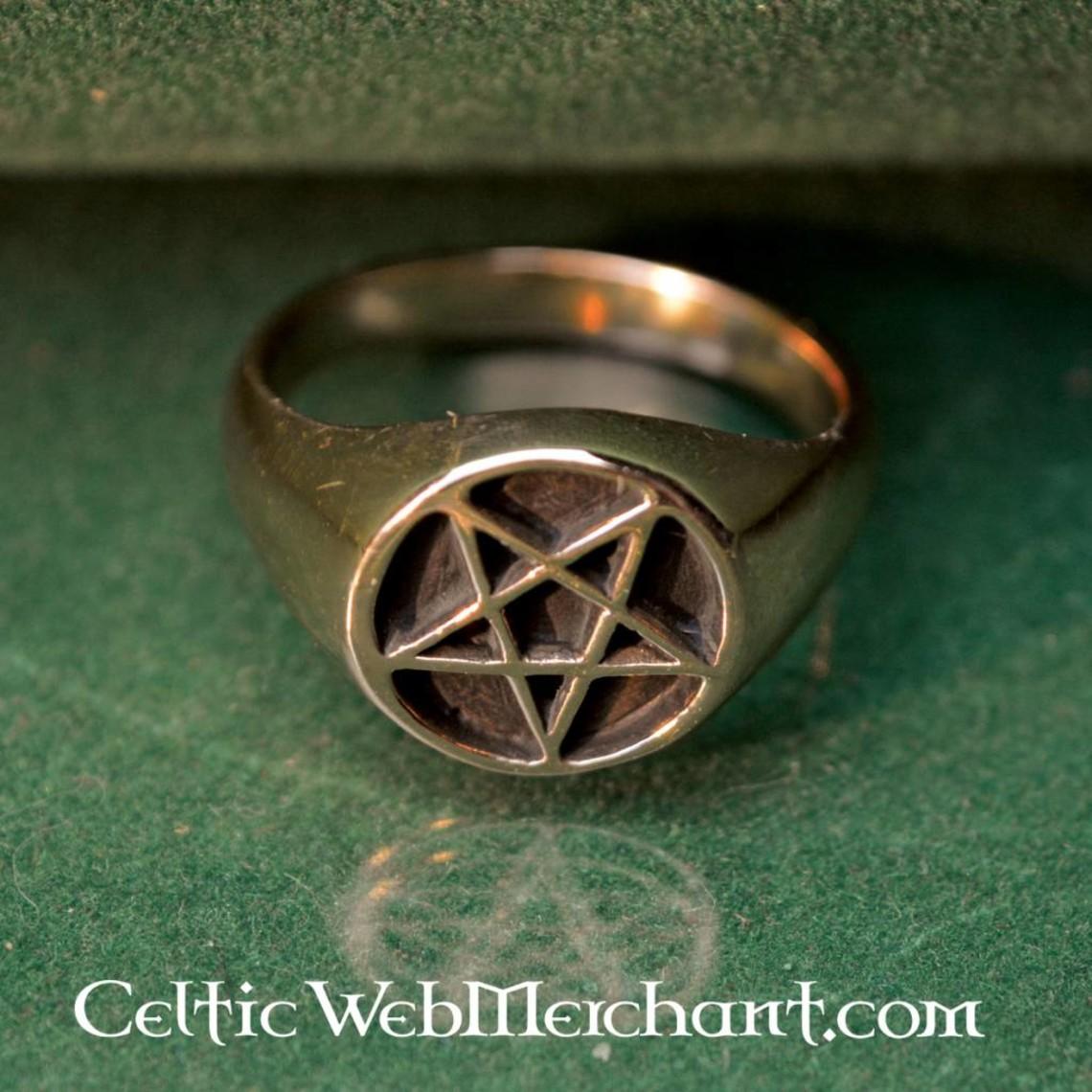 Bronzo anello pentagramma