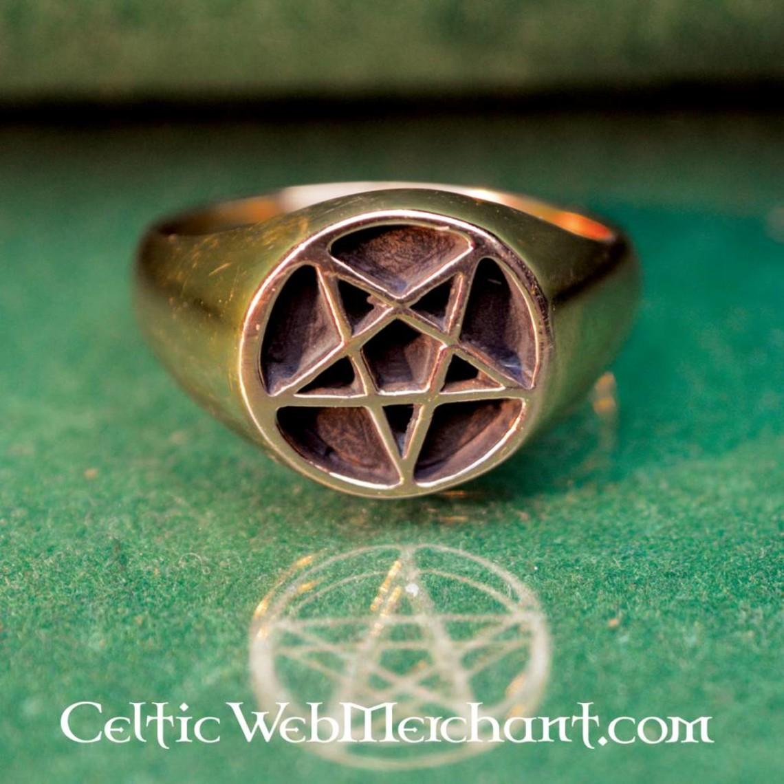 Bronzen pentagramring