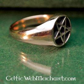 Brons pentagram ring