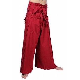 Epic Armoury pantaloni Samurai, rosso