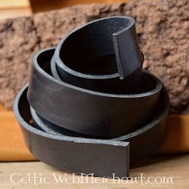 Leather belt 30 mm / 130-140 cm black