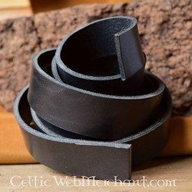 Leren riemband 30 mm / 130-140 cm zwart