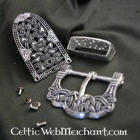 Gokstad bältesbeslag silver