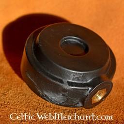 Ronde pommel voor trainingszwaard zwart