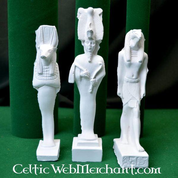 Egyptian god family: Isis, Anubis and Osiris