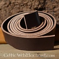 Cintura in pelle striscia marrone 4 x 180-190 cm