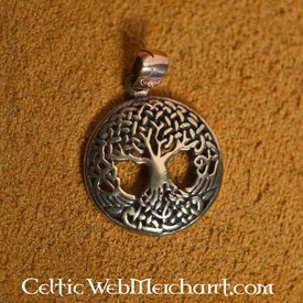 Knotted tree of life, bronze