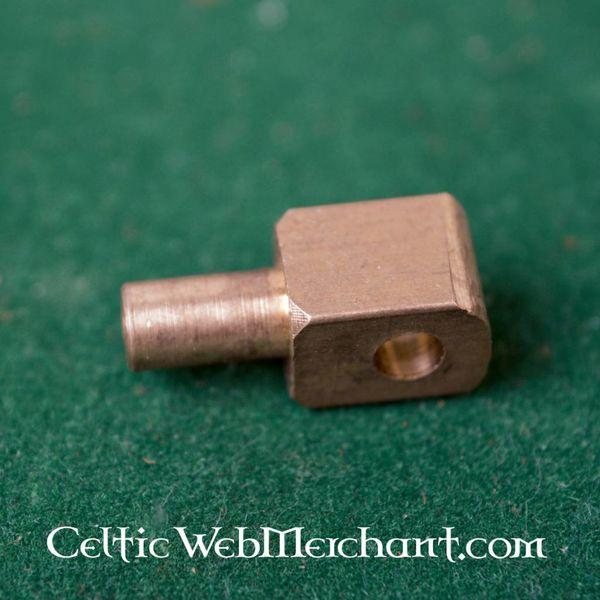 Vervelles, Messingstifte für Bascinet Helme und Rüstung, Satz von 12