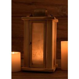 Wooden lantern with parchment windows