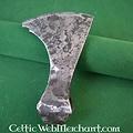Ulfberth Lame (fer) de hache barbue, patinée, prête au combat