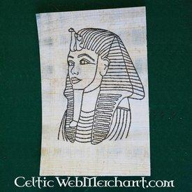 Papyrus coloração máscara placa morte Tut Ankh Amon