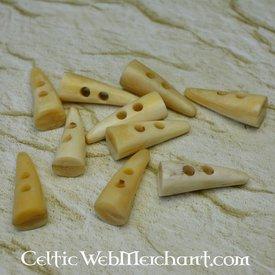 Guziki 40 mm kości