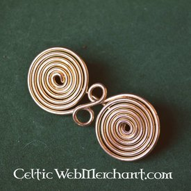 Spiral formad glasögon fibula