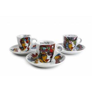 Josien Broeren Espressotassen 65 ml mit Untertassen