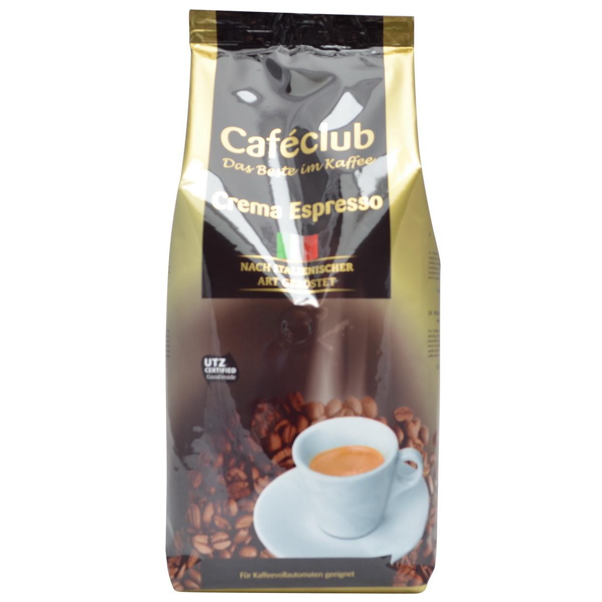 Caféclub Crema Espresso bonen 1 kg. nu vanaf € 7.50
