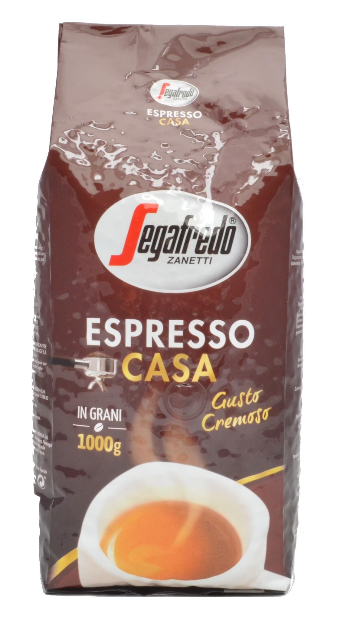Segafredo Espresso casa bonen 1 kg. nu vanaf € 6.95
