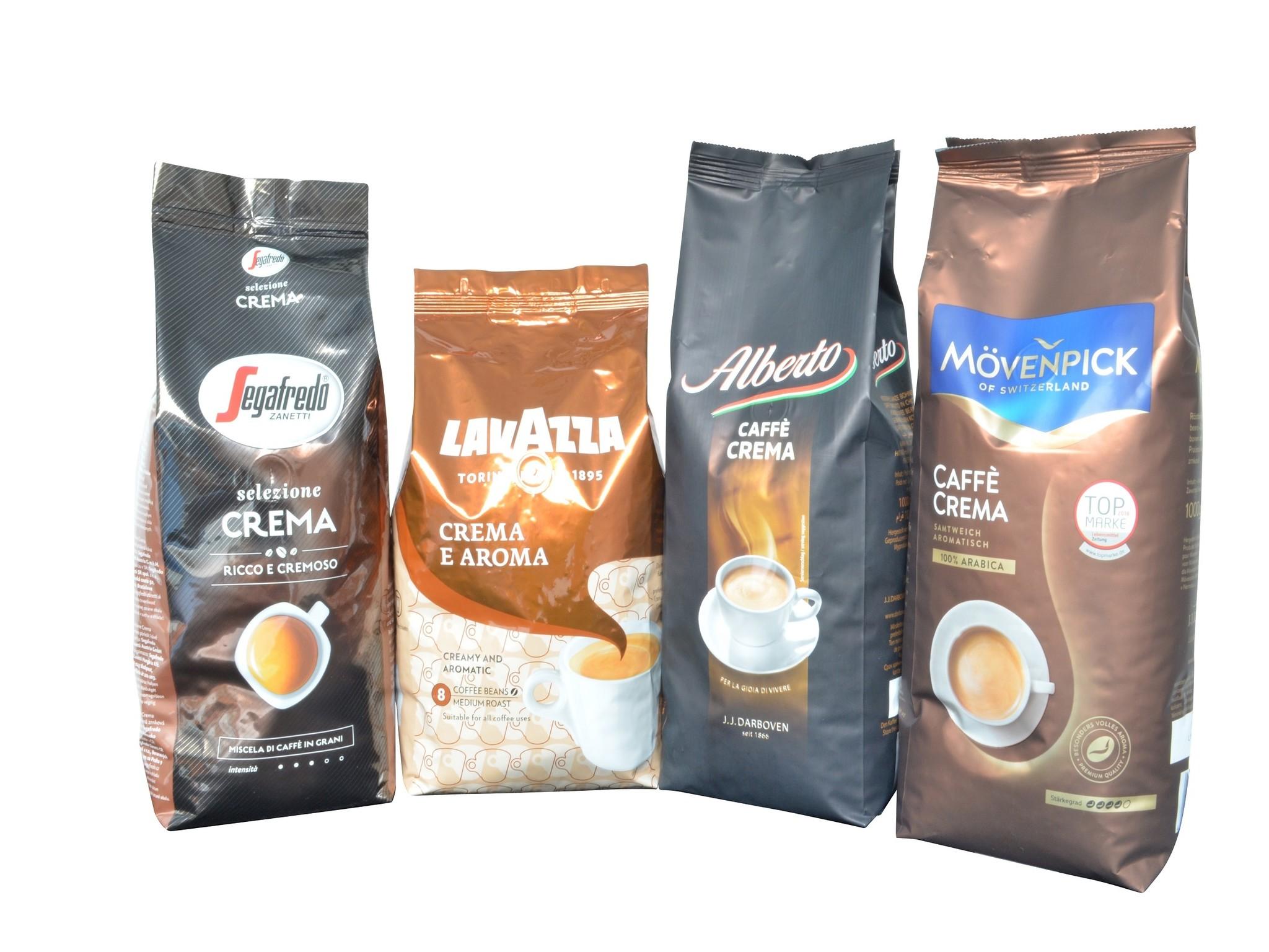 Musterpaket Cappuccino 4 x 1 Kilo