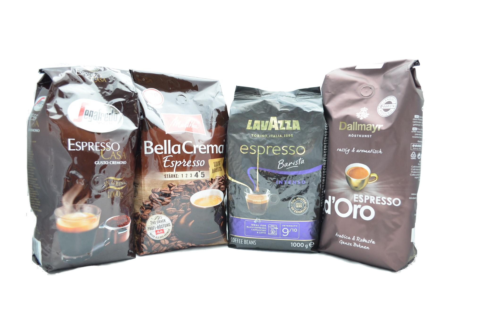Musterpaket Espresso 4  x 1 Kilo