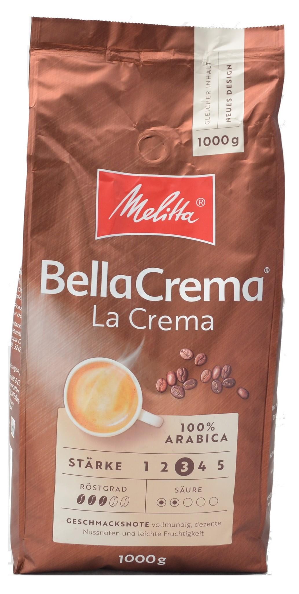 Melitta Bellacrema la crema bonen 1 kg vanaf € 8.27