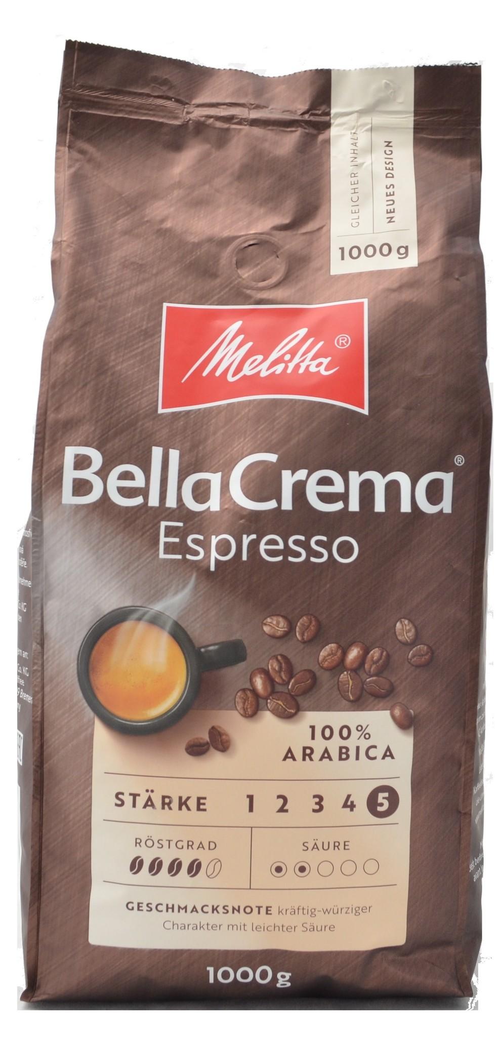 Melitta Bellacrema Espresso Bohnen 1 kg ab € 8.27