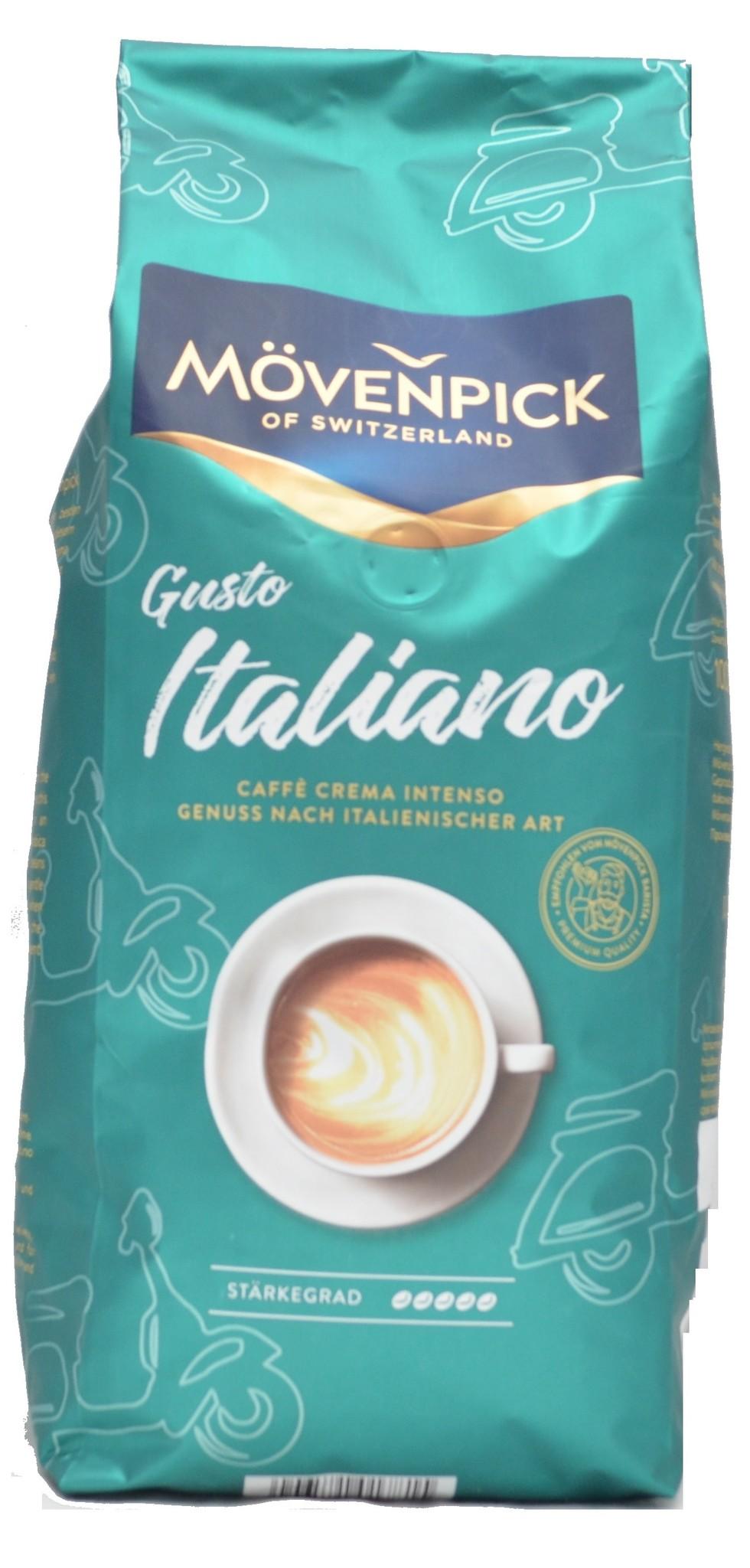 Mövenpick Caffè  Crema Gusto Italiano bonen 1 kg. nu vanaf € 7.85