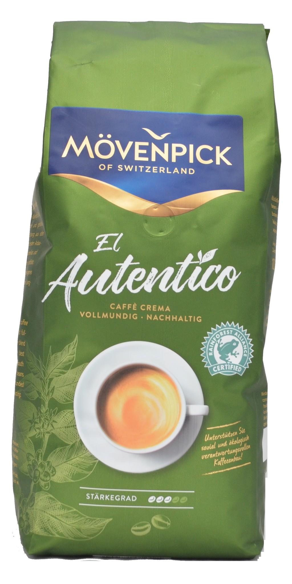 Mövenpick El autentico bonen 1 kg vanaf € 7.50