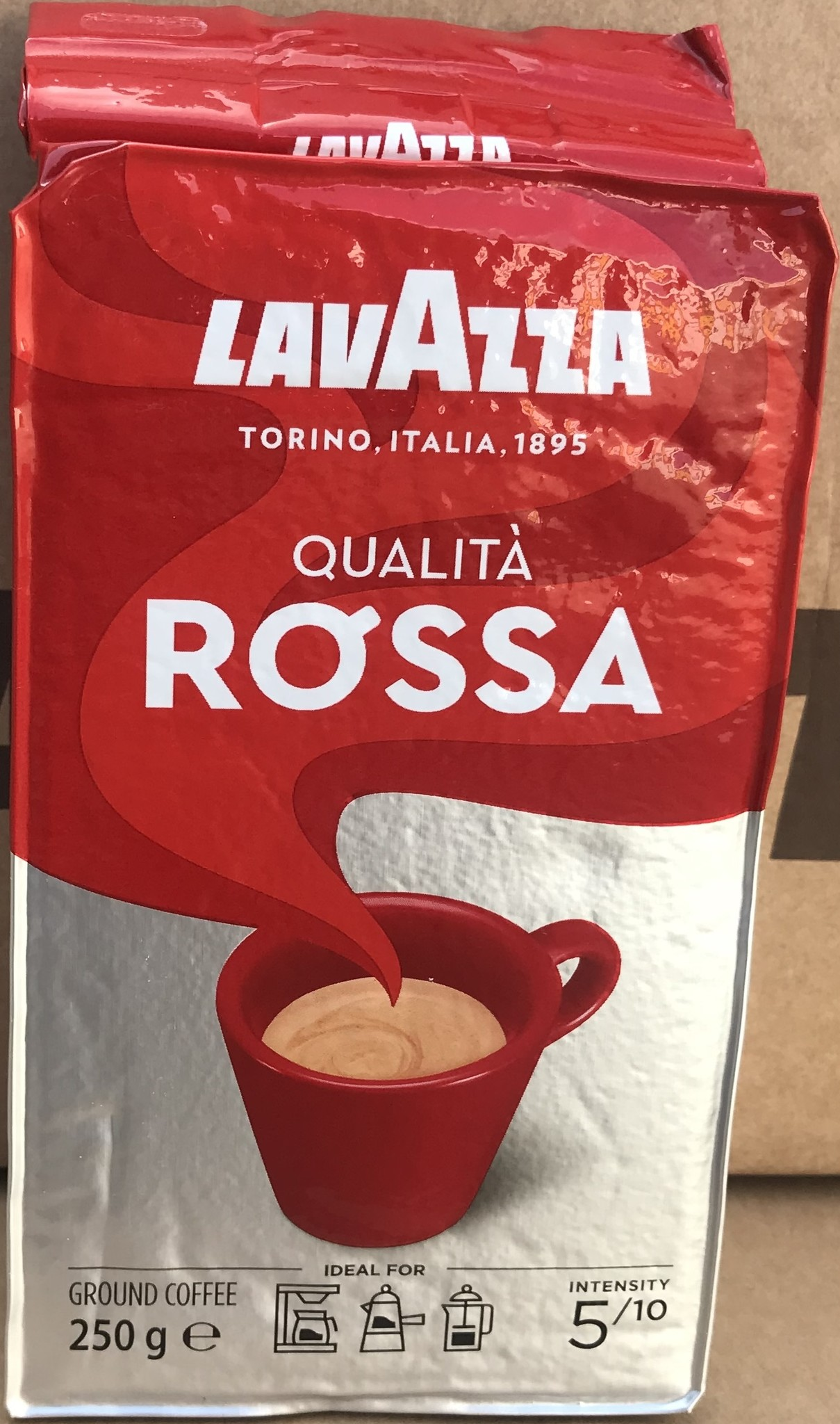Lavazza Qualita Rossa Gemalen bonen 250 gram