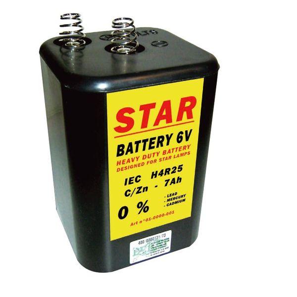 STAR Batterij 4R25-6V-7Ah voor werflichten