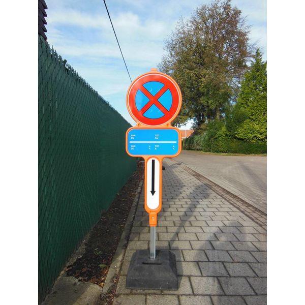 Panneau interdiction de stationnement - PEHD avec film réfléchissante