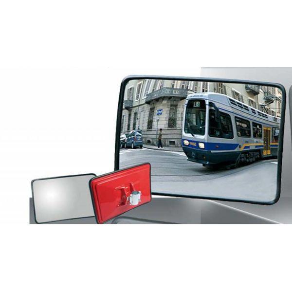 Miroir de circulation 'TRAFFIC INDUSTRIE' 400 x 600 mm - noir