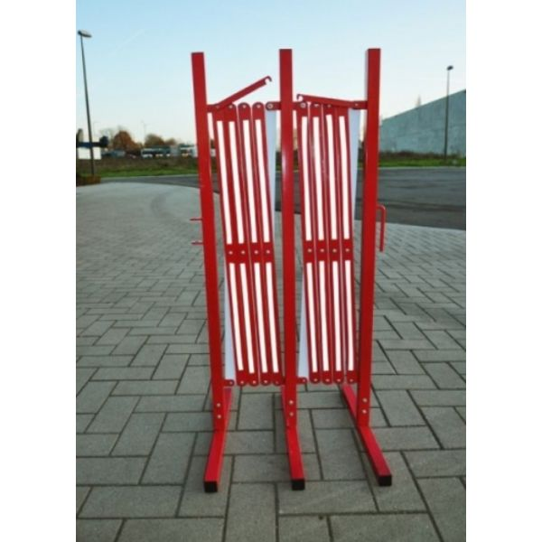 Foldable fence up to 3 m - Red/white