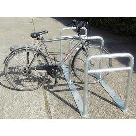 Range à vélos avec 3 arceaux 2000 x 600 x 800 mm + tube tranversal