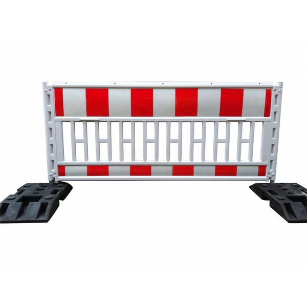 Werfhek Euro-barrier -  200 x 120 cm - rood/wit