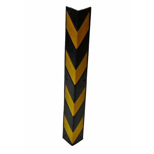 Rubber corner guard - yellow/black- 800 x 100 x 8 mm