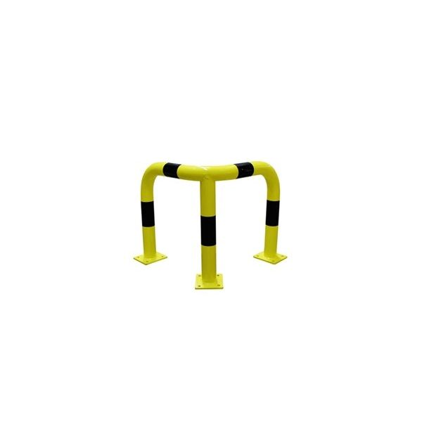 Corner collision protection barrier  from steel - Ø 76 mm